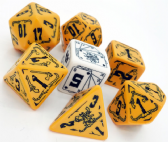 Orange & Black Deadlands Dice Set